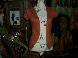 Anthropologie Moth Fancy Rust Sweater Size S - $13.86