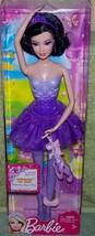 Barbie Ballerina Purple Outfit Raquel Brunette New - $12.88