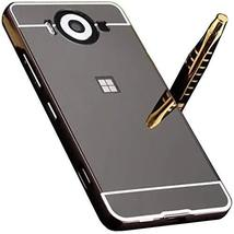 Microsoft Lumia640XL Mirror Case, Shiny Awesome Make-up Mirror Plated Al... - $12.73