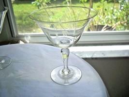 Set of 2 Craftsman Bamboo Pattern Champagne Glasses - $9.90
