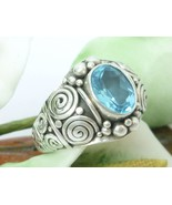 Artisan Crafted Sterling Blue Topaz Ring size 7 - $59.00
