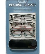 Icon Eyewear 3PK Reading Glasses Contemporary Fashion Power +1.50 Streng... - $12.13