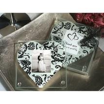 A Classic Heart Damask Pattern Photo Coaster - 24 Sets - $37.95