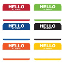 Cheers & Beers 8 5/8 x 3 1/2 Hello My Name is Nametag/Case of 36 - €41,21 EUR