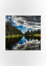 Trees Lake Canvas Prints Wall Art Framed Decor Living Room Bedroom - $20.85+