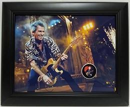 Keith Richards custom framed guitar pick display J1 - $75.95