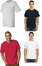 Hanes Men's Pocket T-shirts 3-PACK 50/50 ComfortBlend EcoSmart Pocket Tee - $12.86+