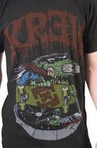 KR3W Natation Skateboard Noir Hommes Piscine Ghoul Art Rétro T-Shirt K52433 Nwt