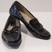 Women Sperry Top Sider Boat Shoes 10 Slip On Loafers Leather Reptile Pri... - $26.86