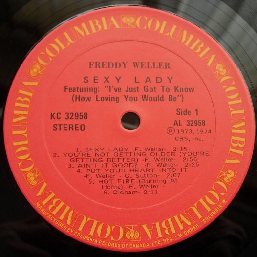 Freddy Weller - Sexy Lady - Columbia KC 32958