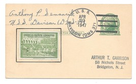 Naval Cancel USS Davison DMS 37 1947 UX27 America Olympic Committee Post... - $8.99