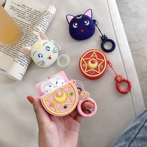 Cute Sailor Moon Sakura Cartoon Apple AirPod Case Earphone Charging Cove... - $7.94 CAD