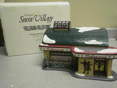 Primary image for DEPT 56 54916 ROLLERAMA ROLLER RINK BUILDING SNOW VILLAGE NICE NO CORD  D16