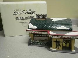 DEPT 56 54916 ROLLERAMA ROLLER RINK BUILDING SNOW VILLAGE NICE NO CORD  D16 - $45.03