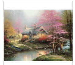 "CEACO THOMAS KINKADE ""STEPPING STONE COTTAGE""  300 piece Jigsaw Puzzle  ... - $7.92"