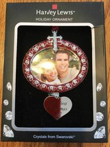 """Swarovski Crystal Holiday Photo Frame Ornament """"Our First Christmas"""" Ships N 24h - $56.41"""