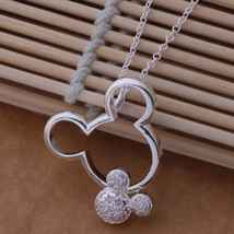 An671 Hot 925 Sterling Silver Necklace 925 Silver Fashion Jewelry Pendant Mouse  - $9.79