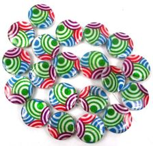 """20mm All Circle Colorful Mother Of Pearl Disc Coin MOP Beads 15"""" - $20.00"""