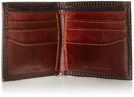Tommy Hilfiger Men's Premium Leather Wallet Double Billfold Chocolate 31TL13X051 image 4