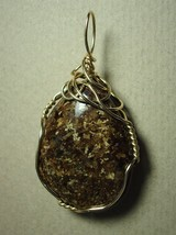 Bronzite Pendant Wire Wrapped 14k/20 Gold Filled by Jemel - $44.00