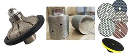 """1"""" Ogee Bullnose Router granite Concrete 2"""" Grinding Drum 12 dry polishi... - $114.83"""