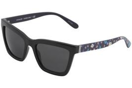 Authentic Coach Sunglasses HC8208 545787 Black Floral Frames Gray Lens 55MM - $98.99