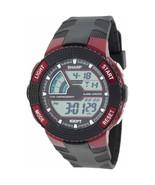 Sharp Men Black Red LCD Digital Alarm Chrono Sports Watch SHP8911 water ... - $18.95