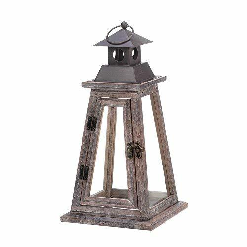 Gallery of Light Candle Lanterns Decorative, Hanging Rustic Wood Lantern Candle