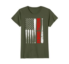 Halloween Shirts -  Baseball Grandad Shirt American USA Flag Softball Distressed - $19.95+