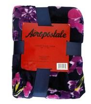 Aeropostale Purple Floral Plush Throw Blanket - €11,52 EUR