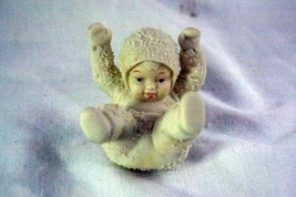 Dept 56 Snowbabies Tumbling In The Snow Laying On Back Figurine - $4.15