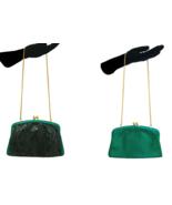 70s Vintage Jane Shilton Two Tone Green Snakeskin Chain Shoulder Clutch Bag - $75.00