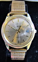 John Weitz One Jewel Unadjusted Gold-Tone Watch IN BOX - $20.00