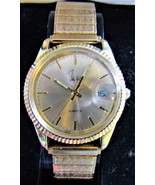 John Weitz One Jewel Unadjusted Gold-Tone Watch IN BOX - $50.00