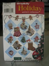 Simplicity Elaine Heigl Designs 4810 Holiday Christmas Decorations Pattern - $6.92