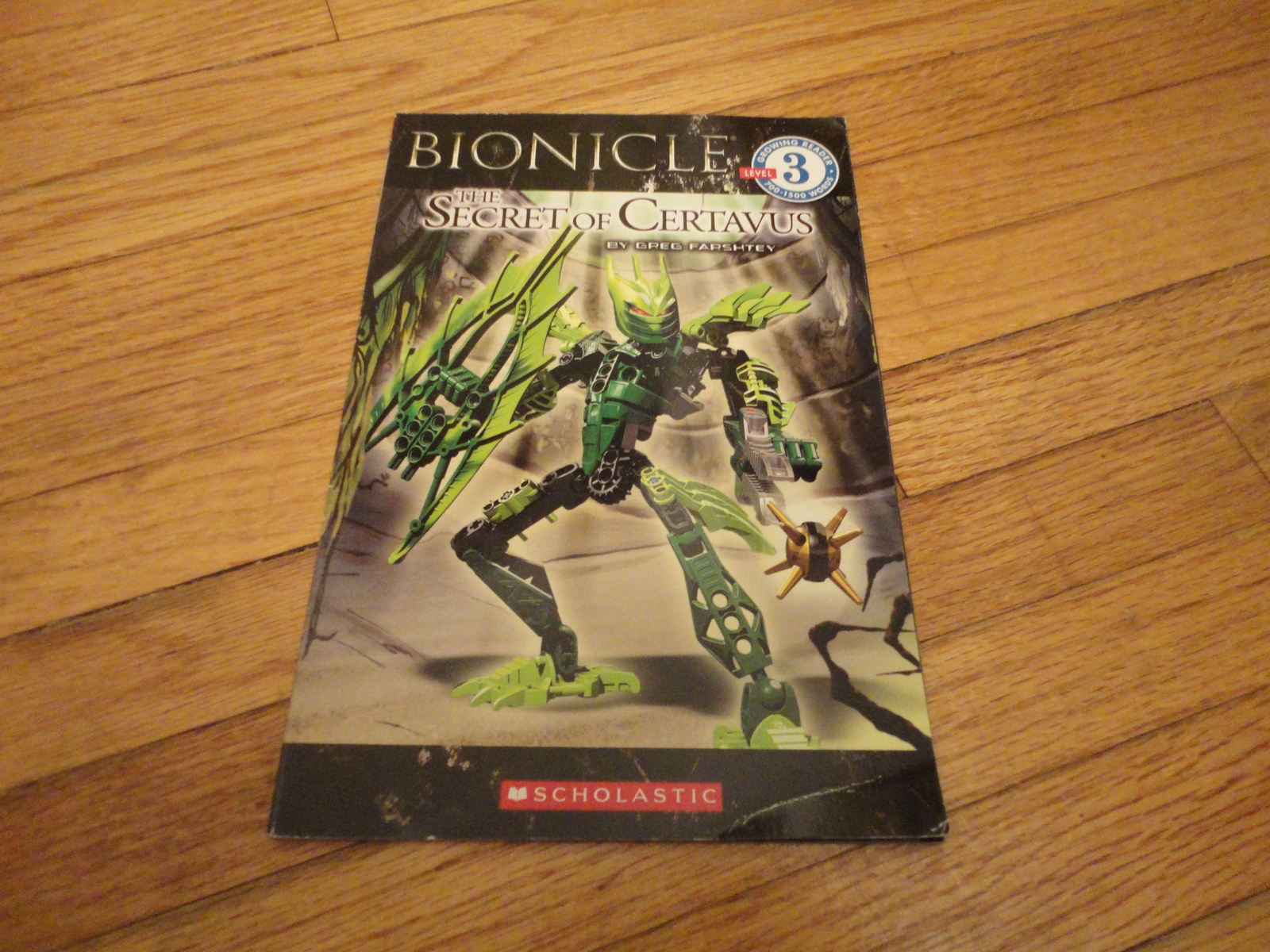 BOOK Greg Farshtey 'Bionicle: Secret of Certavus' Growing Reader Level 3 PB 2009