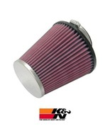 K&N RC-8280 Universal Performance Air Filters, 5.125in Tall, Round Tapered - $59.39