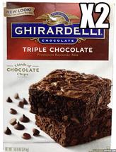 GHIRARDELLI Triple Chocolate Brownie Mix 7.5 lb Large Box *read description* X2 - $27.55
