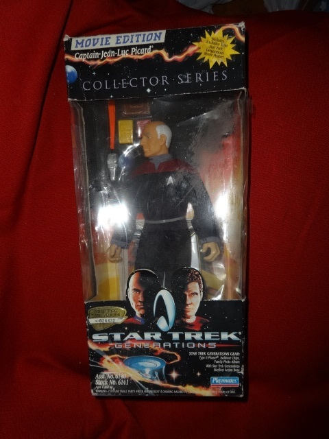 Playmates Star Trek GEORDI / PICARD /  JEM HADAR action figure + videos