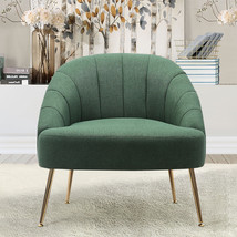 Imitation Cashmere Bucket Style Accent Chair, Green - $220.00