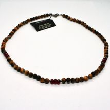 Silver Necklace 925 with Tiger's Eye and Agate Made in Italy by Maschia image 5