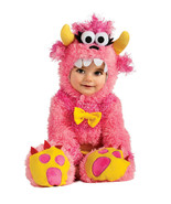 Adorable Fluffy Pinky Winky Monster Romper & Headpiece Costume, Rubies - $29.39