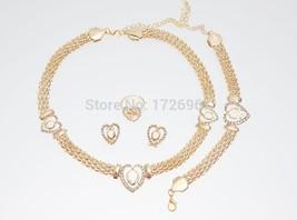 Free Shipping Dubai  Gold Color Heart Shape Necklace Set Fashion Crystal... - $21.78