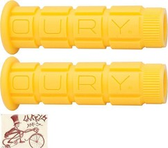 OURY MOUNTAIN YELLOW BMX-MTB BICYCLE GRIPS - $12.86