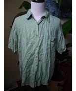 Tasso Elba green 100% linen short sleeve shirt XL - $17.09