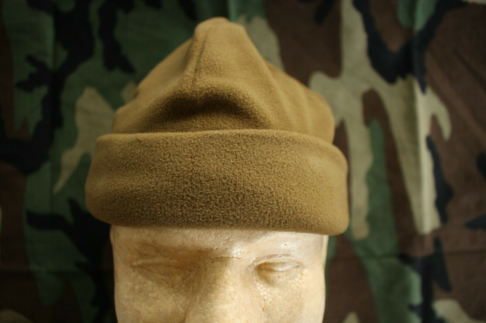 USAF US AIR FORCE COLD WEATHER COMBAT ABU OCP BDU COYOTE BROWN FLEECE WATCH CAP - $21.77