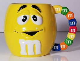 """NEW M&M's CANDY Galerie OVERSIZED CERAMIC COFFEE CUP MUG Mr. Yellow 4.75"""" - $14.84"""