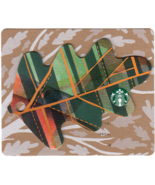 Starbucks 2016 Mini Leaf Plaid Collectible Gift Card New No Value - $4.99