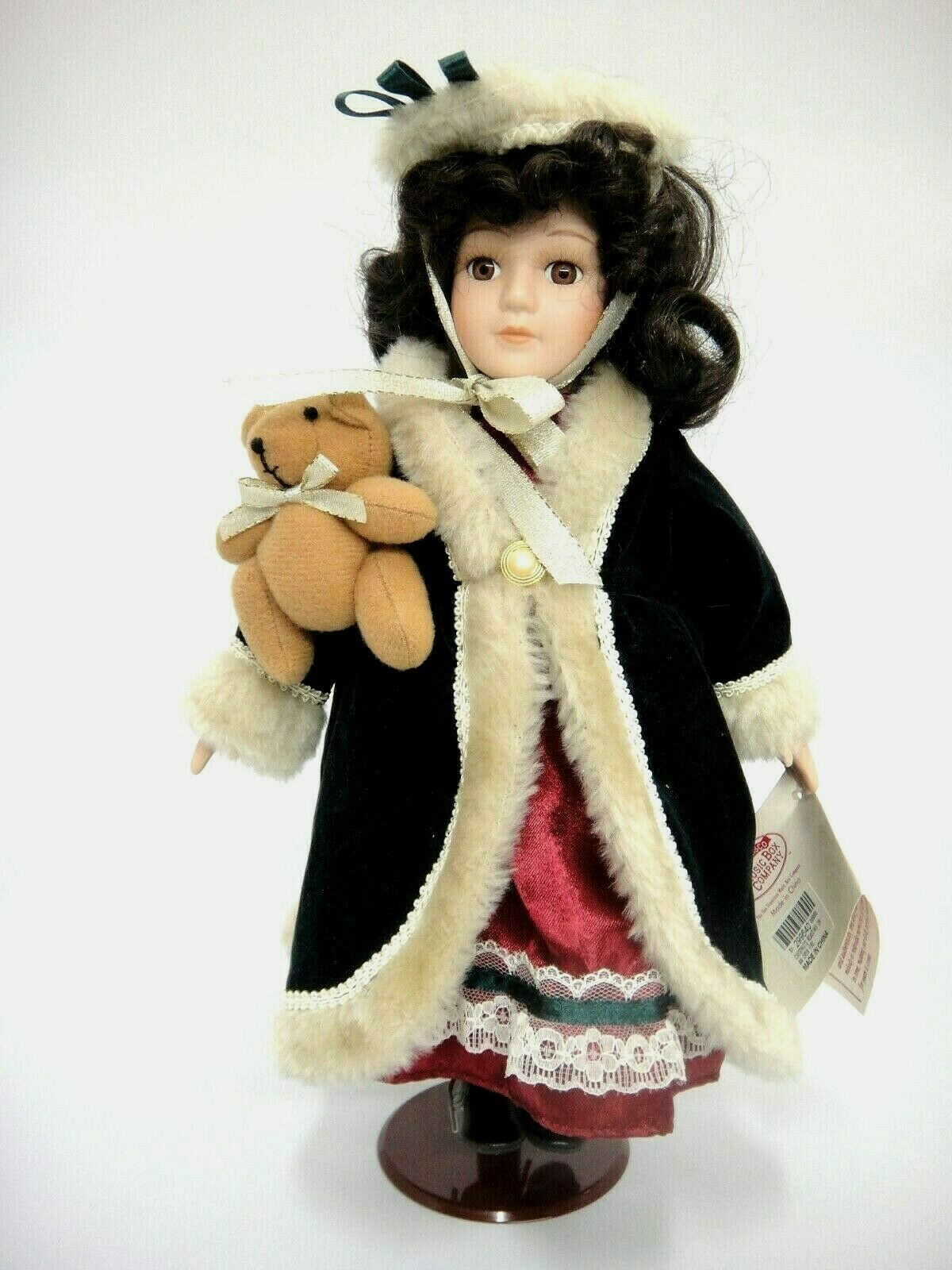 Primary image for San Francisco Music Box Porcelain Doll Plays Christmas Song Chestnuts Roasting