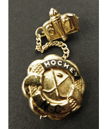Vintage Gold tone Metal NC Hockey 1967 Pin or Tie Pin - $14.50